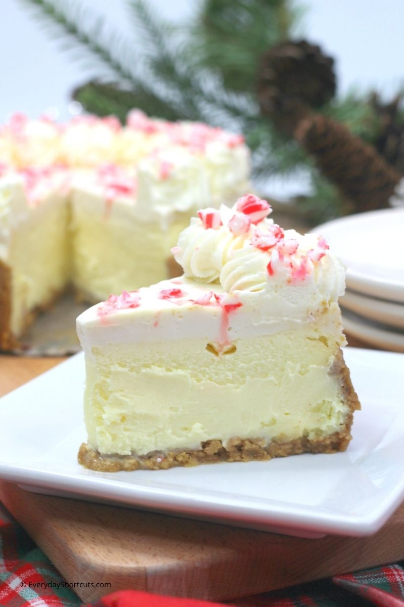 white chocolate cheesecake with peppermint