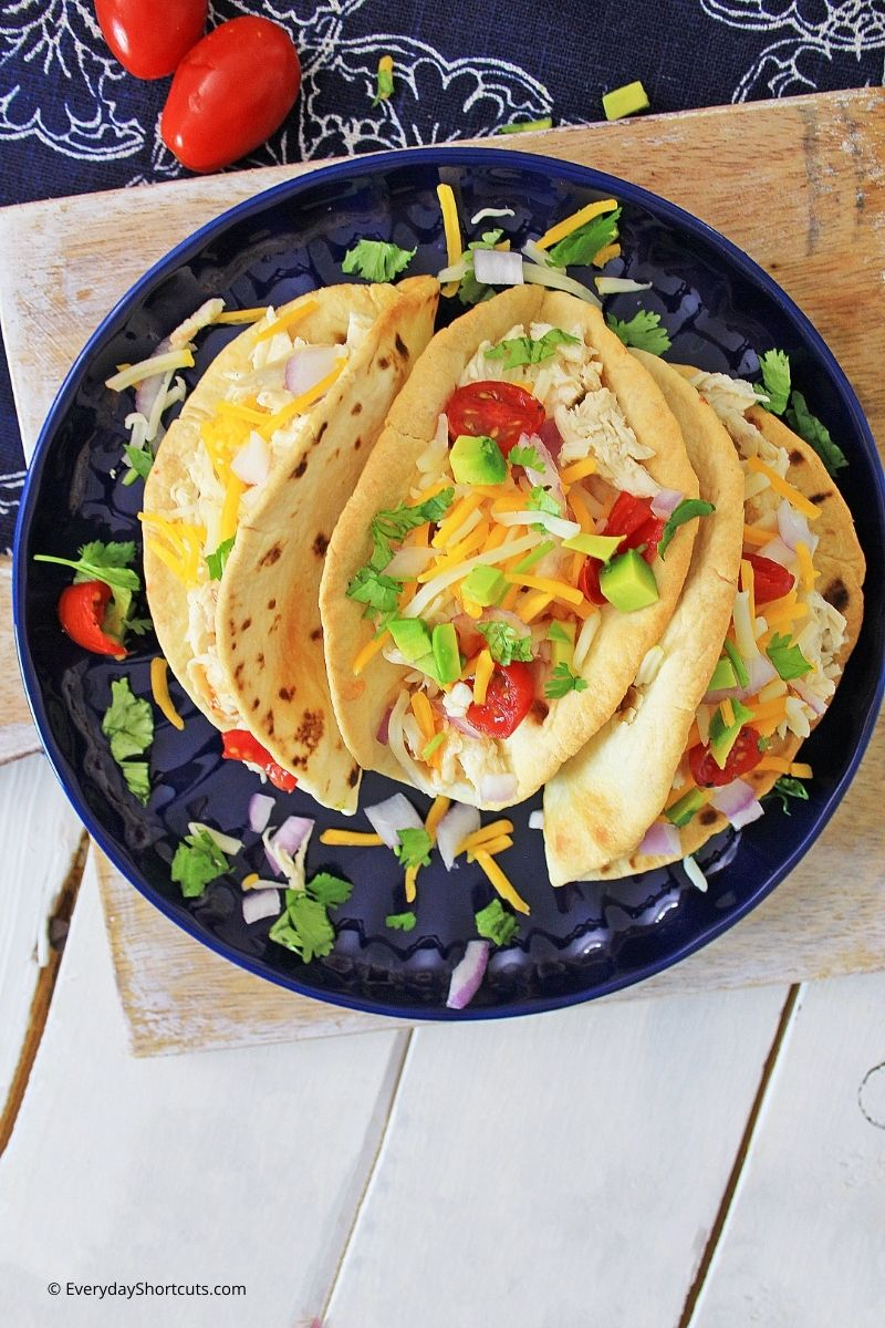 Sweet chili lime chicken tacos
