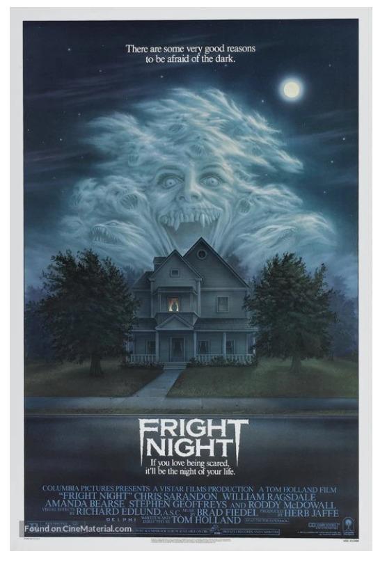 Vintage Prints Fright Night Movie Poster Image