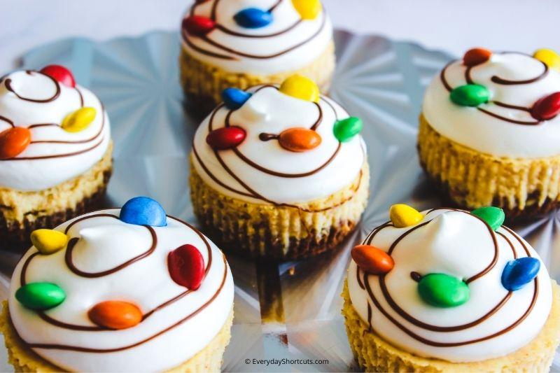 eggnog mini cheesecakes