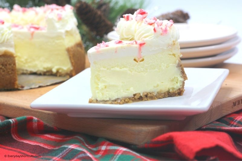 how to make Peppermint White Chocolate Cheesecake
