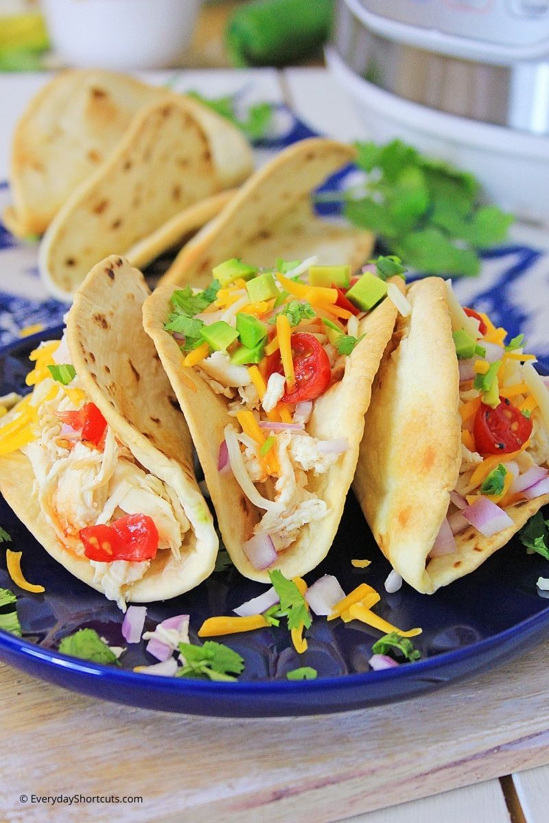 how to make Instant Pot Sweet Chili Lime Chicken Tacos