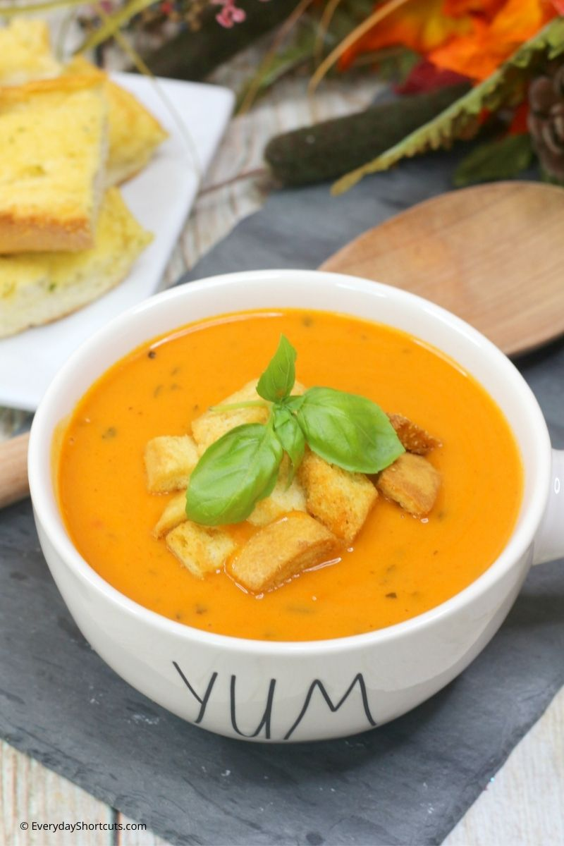 how to make Instant Pot Tomato Basil Soup