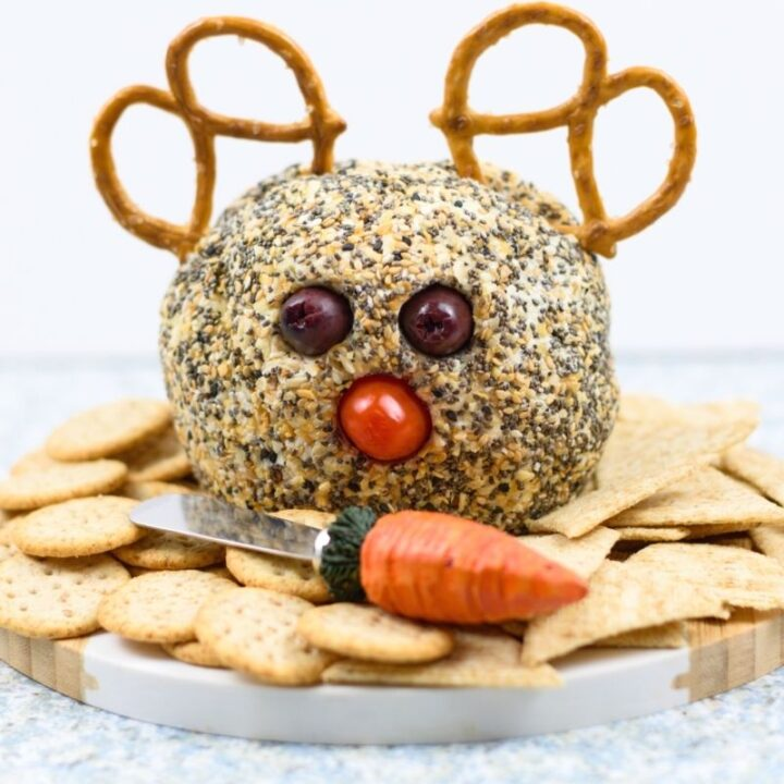 Everything Bagel Ranch Reindeer Cheese Ball