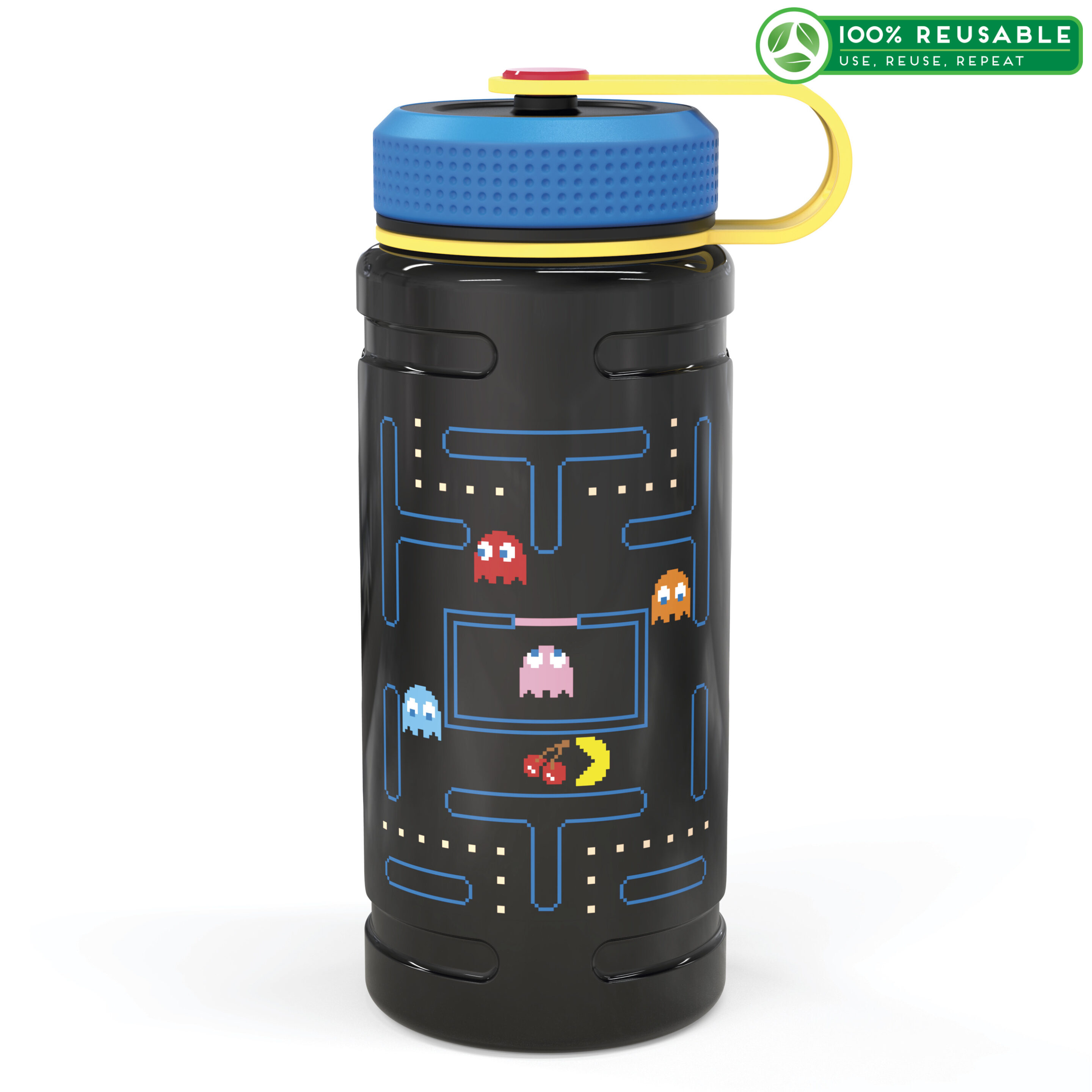 Zak! Pac Man 24 oz. Stainless Steel Insulated Water Bottle Image