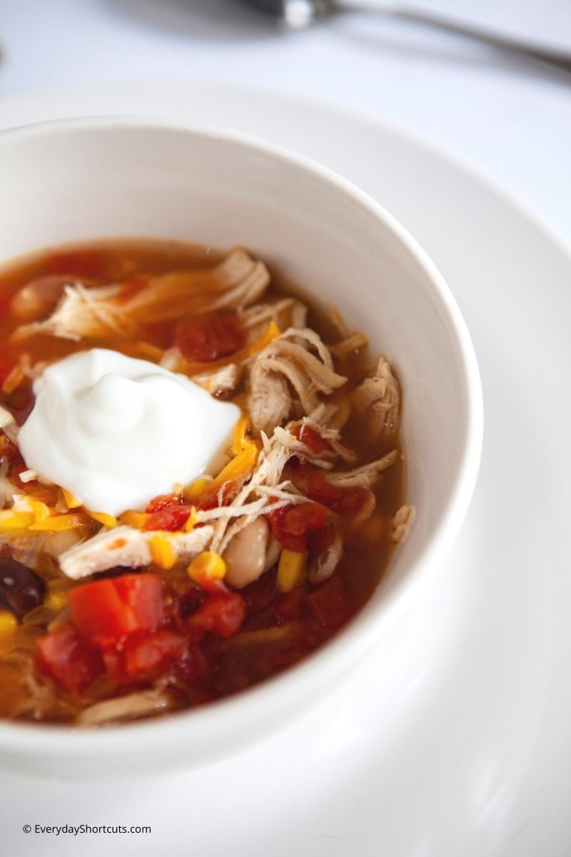 how to make Instant Pot Weight Watchers Chicken Taco Soup