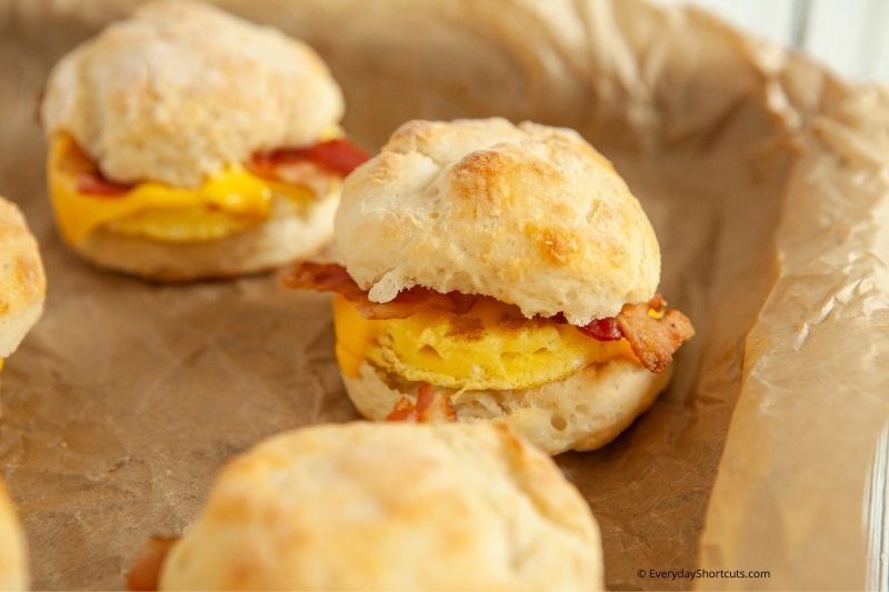 WW Bacon Egg and Cheese Biscuits