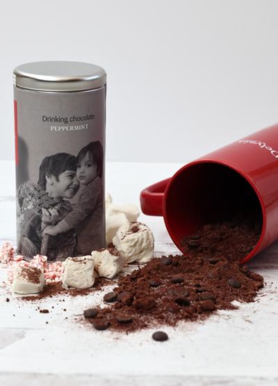Delysia Chocolatier Drinking Peppermint Chocolate + Mug Image