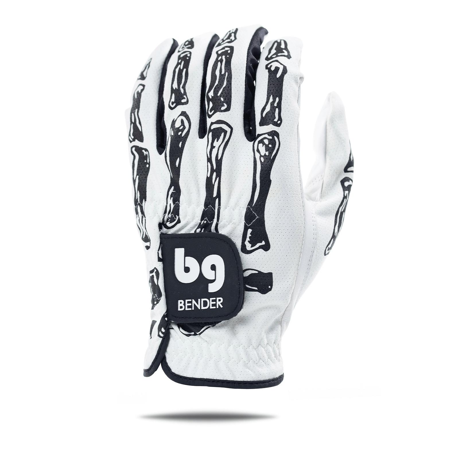Bender Gloves White Bones Mesh Golf Glove Image