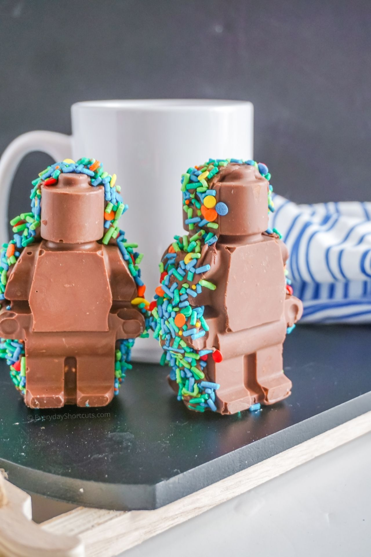 Lego Man Hot Chocolate Bombs