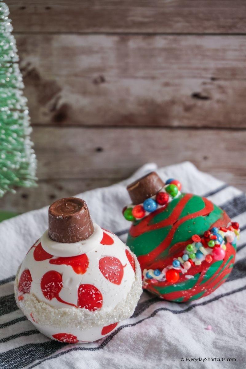 Christmas Ornament Hot Cocoa Bombs