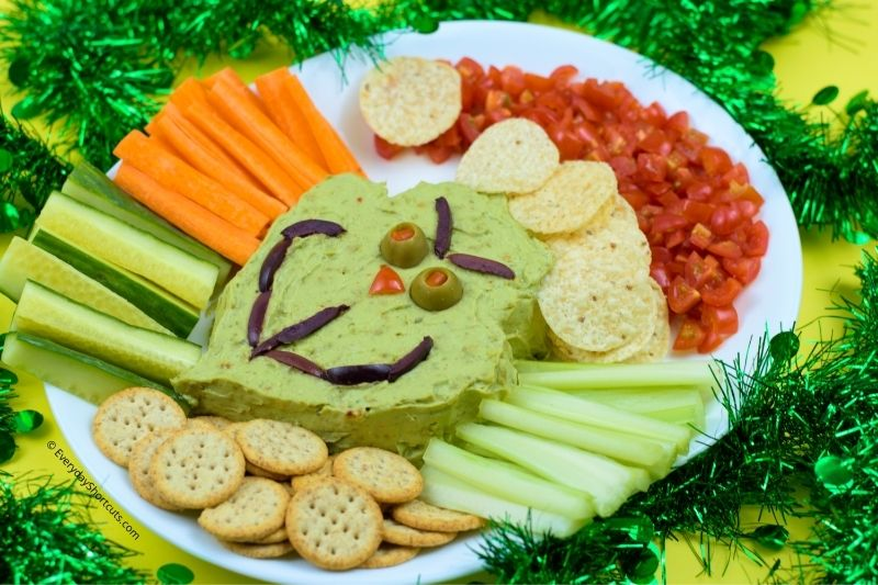 Grinch Face Guacamole