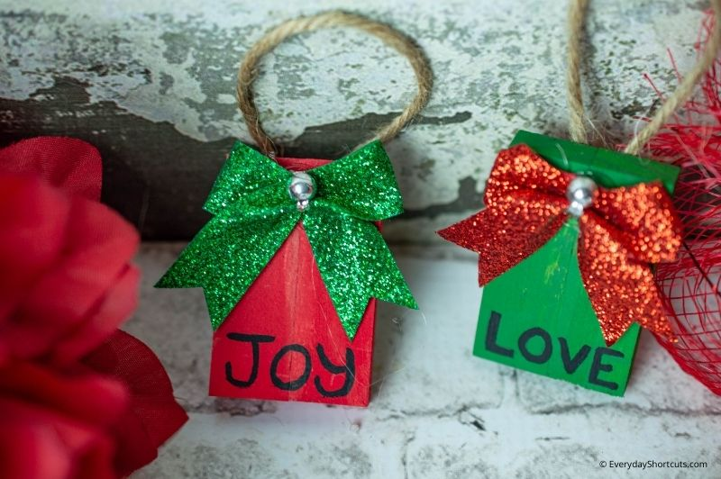 Dollar Tree Tumbling Tower Christmas Ornaments