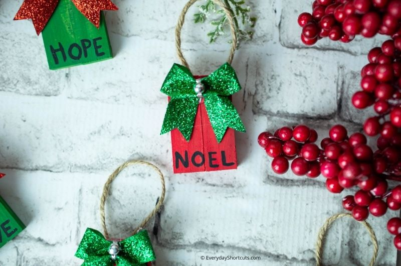 how to make dollar store christmas ornaments