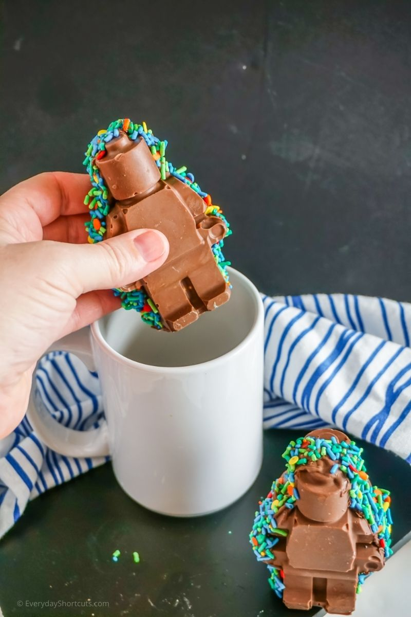 lego man hot cocoa bombs