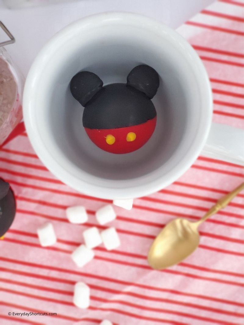 How to Make Mickey Mouse Hot Chocolate Bombs