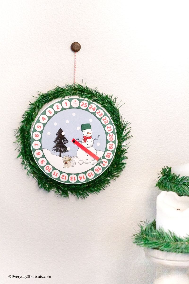 Paper Plate Christmas Countdown Craft
