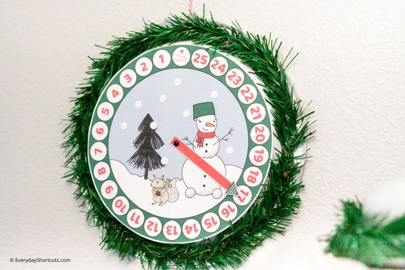 how to make a Paper Plate Christmas Countdown