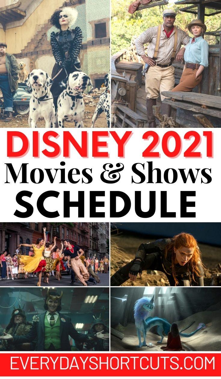 Disney 2021 Movies & Shows Schedule