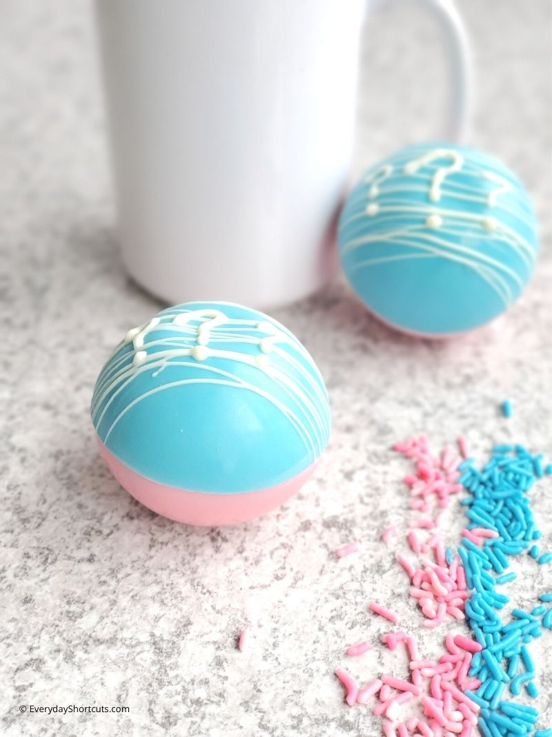 Gender Reveal Hot Chocolate Bombs