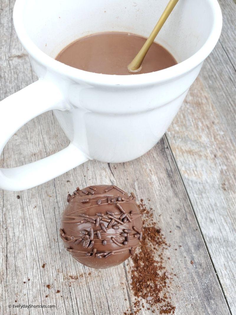 how to make hot coffee bombs