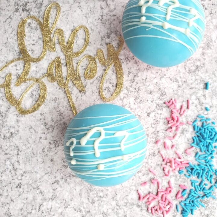 Gender Reveal Hot Cocoa Bombs