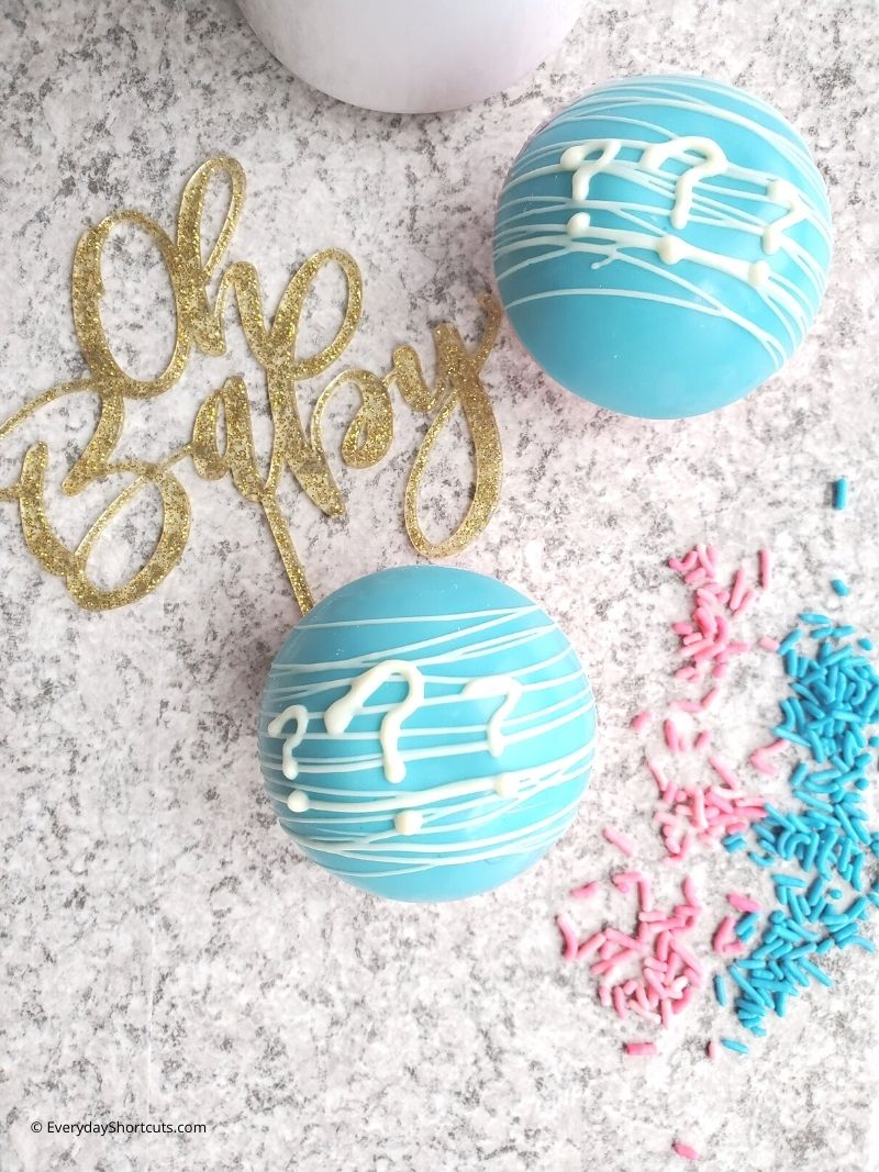 how to make Gender Reveal Hot Cocoa Bombs