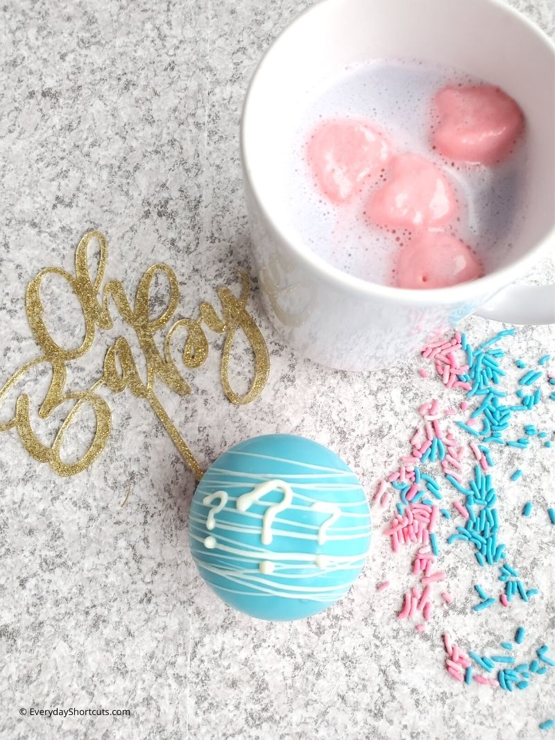 how to use Gender Reveal Hot Cocoa Bombs