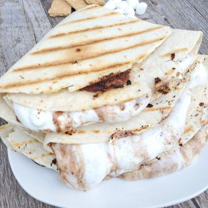 S'mores Tortilla Dessert Wrap