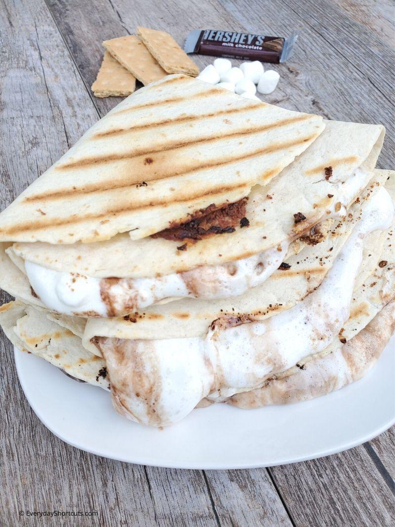 Smores Tortilla Dessert Wrap