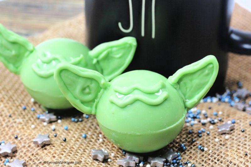 How to Make Yoda Hot Cocoa Bombs