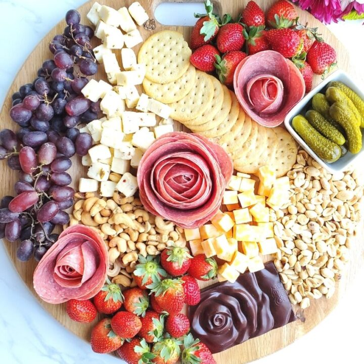 Charcuterie Board Meat Roses