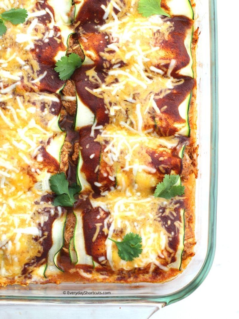 how to make Low Carb Zucchini Chicken Enchiladas