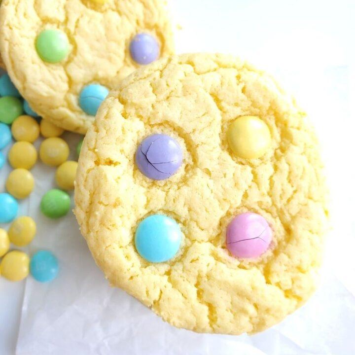 Cake Mix Spring Cookies
