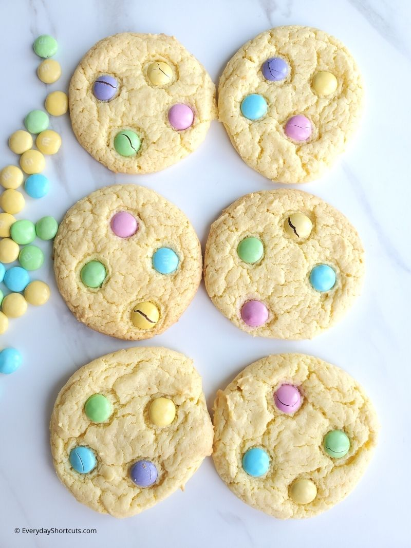 how to make Cake Mix Spring Cookies