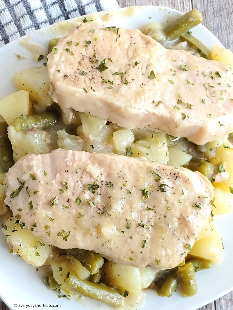 How to Make Slow Cooker Pork Chops with Potatoes and Green Beans