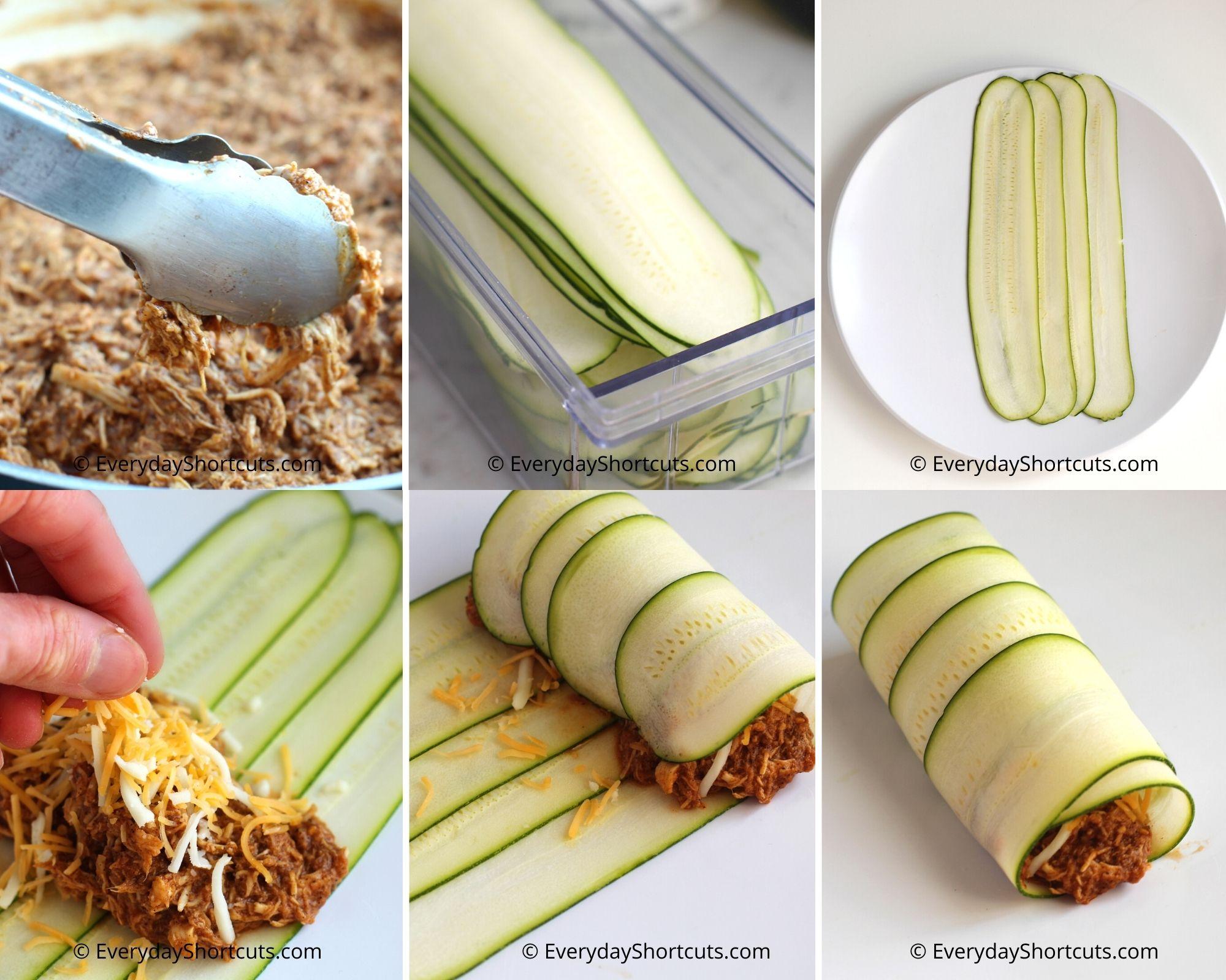 how to make chicken enchiladas with zucchini