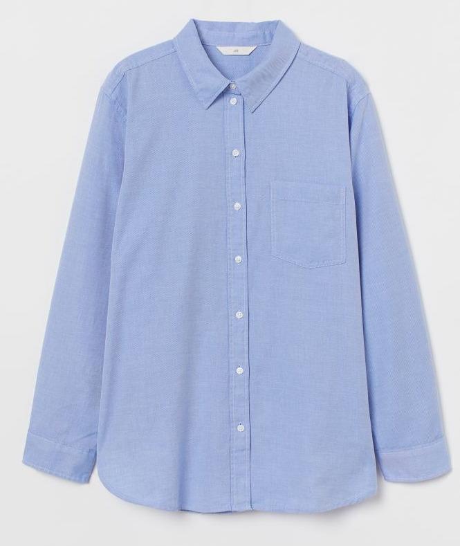 H&M Light Blue Cotton Shirt Image