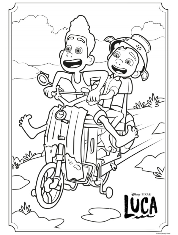 LUCA activity and coloring sheets