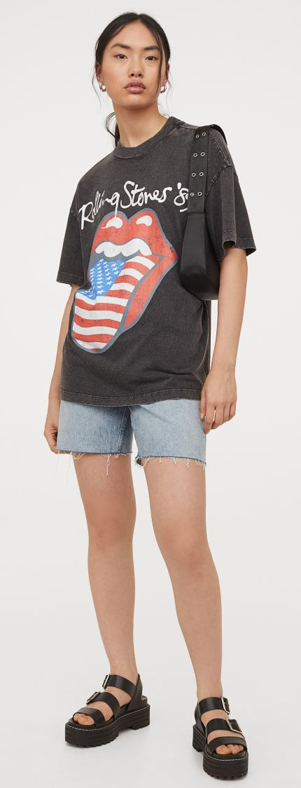 H&M Rolling Stones Printed T-Shirt Image