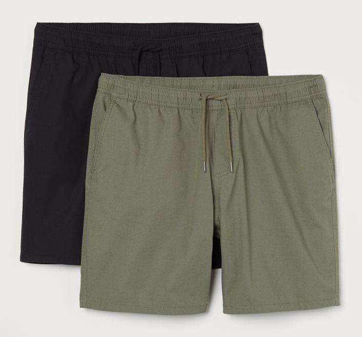 H&M 2 Pack Regular Fit Shorts Image