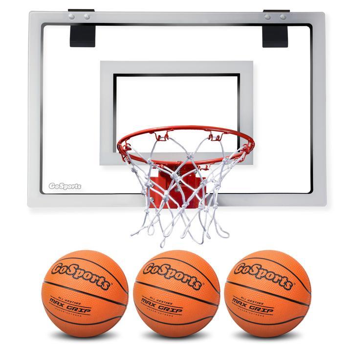 GoSports Basketball Door Hoop with 3 Premium Basketballs Image