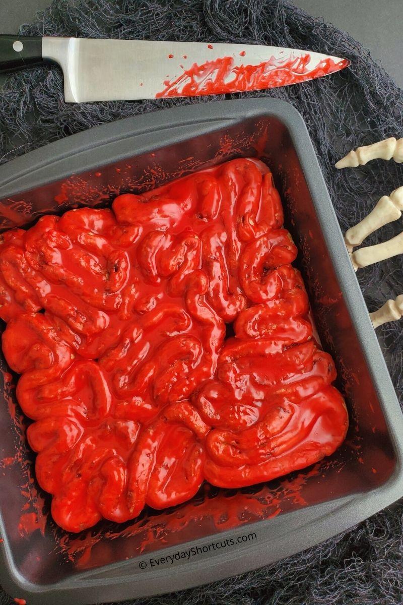 Bloody Intestines Cinnamon Rolls