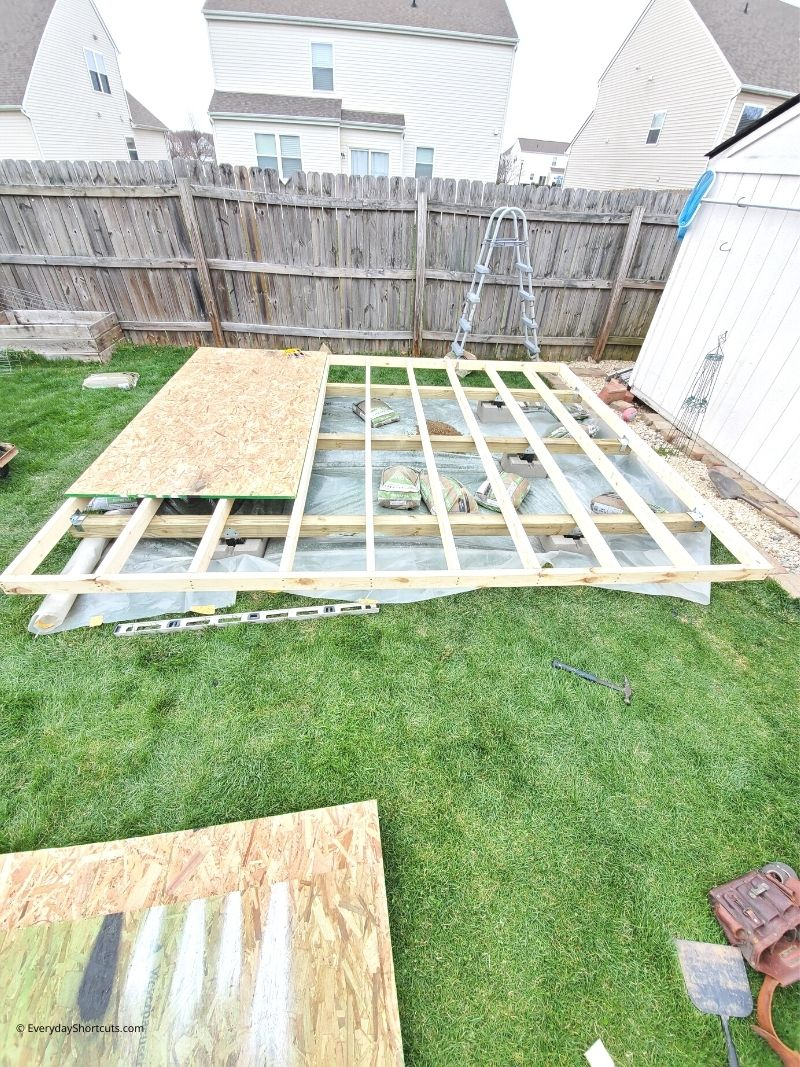 foundation for she shed