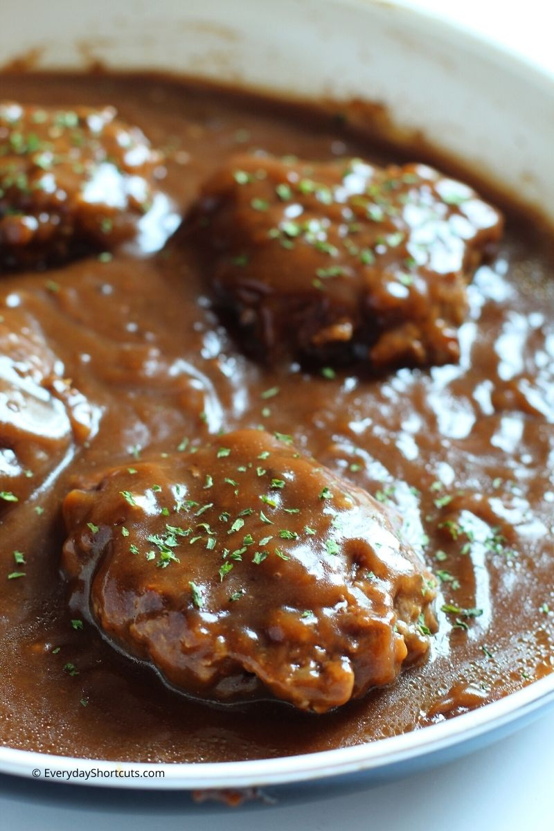 Salisbury Steak with Gluten Free Gravy