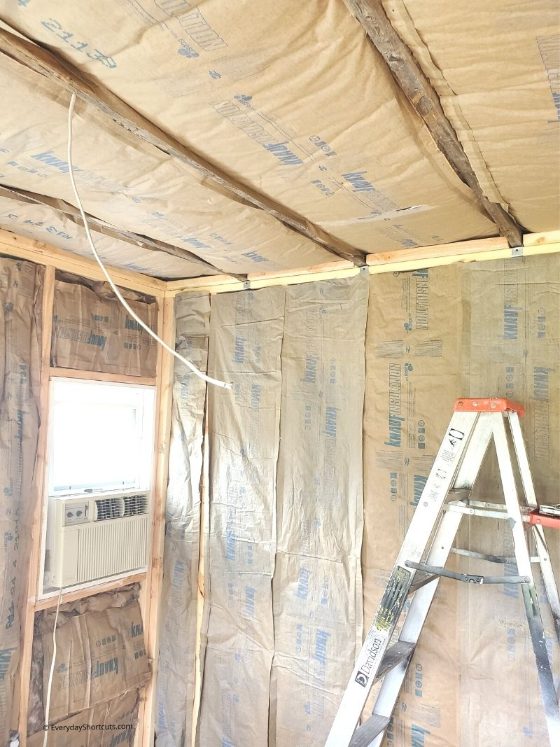 how to insulate a she shed