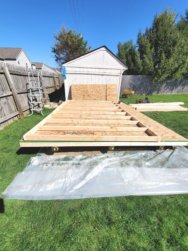 wall frame for she shed