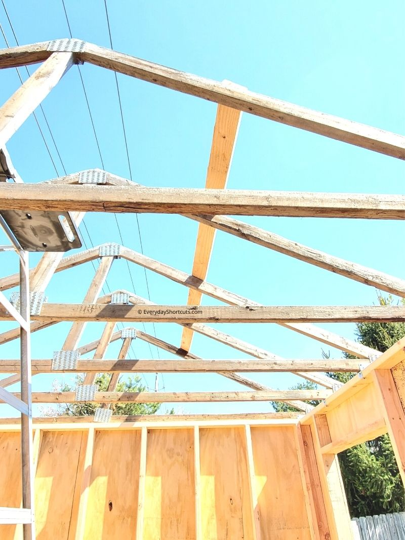 roof trusses for a she shed