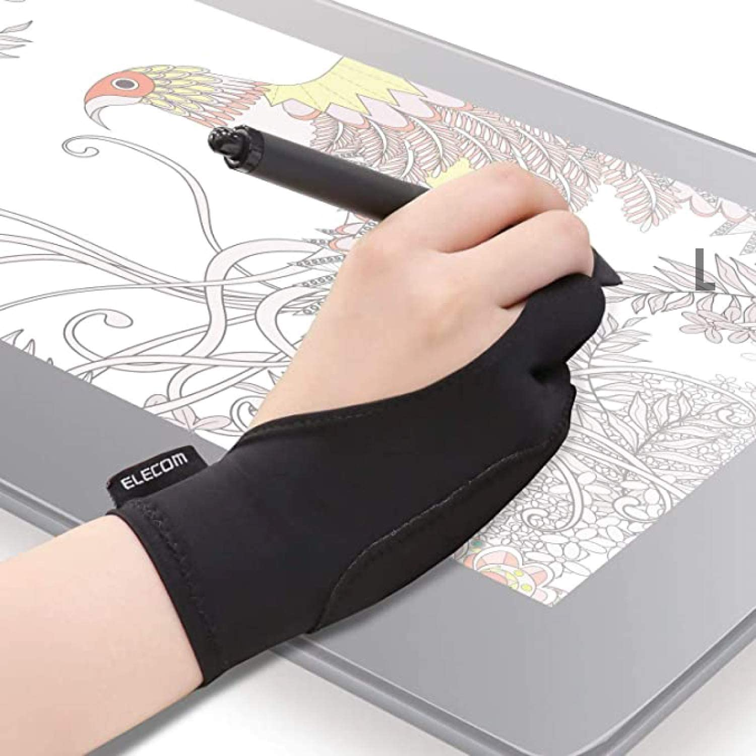 Elecom Two-Finger Glove for Graphics Drawing Tablet Image