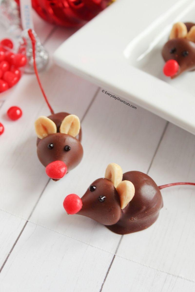 How to make Chocolate Christmas Mice